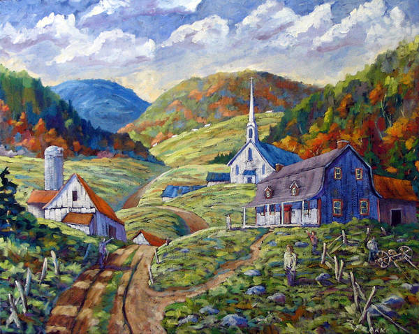 Landscape Poster featuring the painting A Day In Our Valley by Richard T Pranke