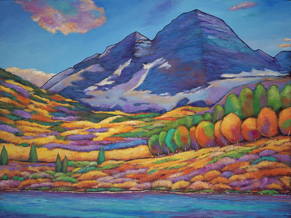 Aspen Tree Landscape Poster featuring the painting A Day in the Aspens by Johnathan Harris
