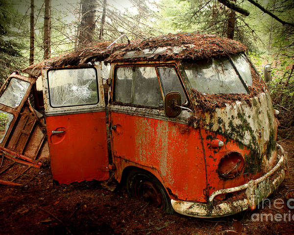 23 Poster featuring the photograph A Forgotten 23 Window Vw Bus by Michael David Sorensen