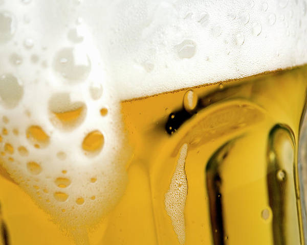 Horizontal Poster featuring the photograph A Glass Of Beer by Caspar Benson