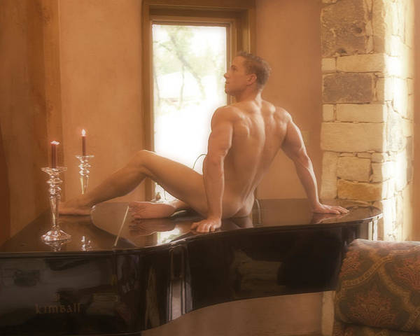 Male Nude Figure Study Poster featuring the photograph A Grander Piano by Dan Nelson