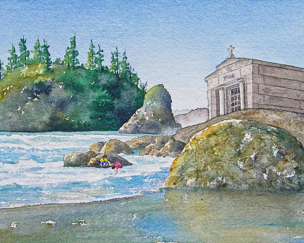 Ocean Poster featuring the painting A Kingdom By The Sea by Gale Cochran-Smith