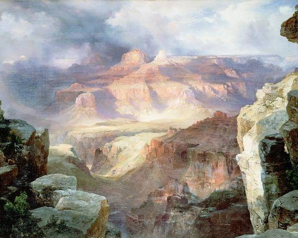 A Miracle Of Nature Poster featuring the painting A Miracle Of Nature by Thomas Moran