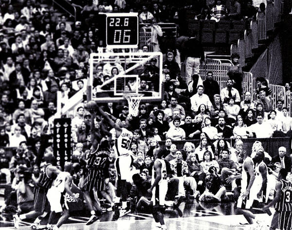 Basketball Poster featuring the photograph A Moment In History 1999 by Diana Gonzalez