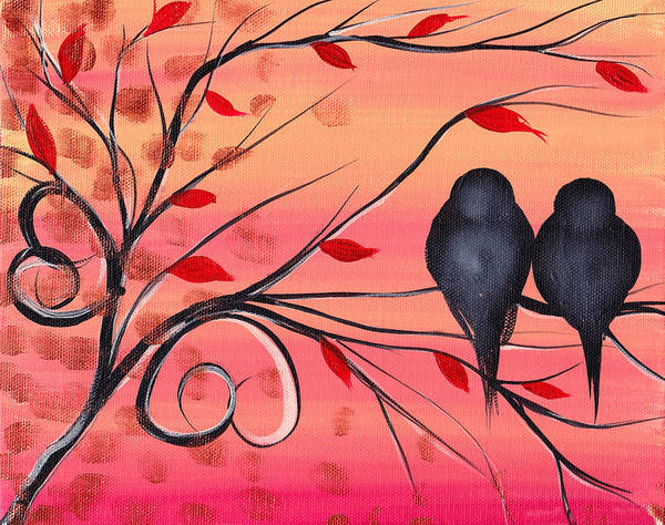 Birds Poster featuring the painting A Morning With You by Abril Andrade Griffith