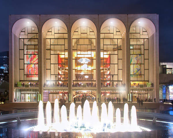 Lincoln Center Poster featuring the photograph A Night At Lincoln Center by Mark Andrew Thomas
