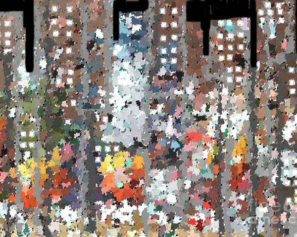 Abstract Poster featuring the painting A Night In Chicago by Don Phillips