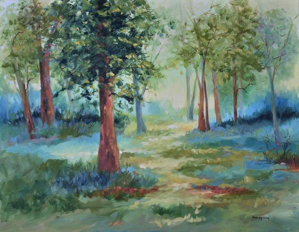 Trees Poster featuring the painting A Path Not Taken by Ginger Concepcion