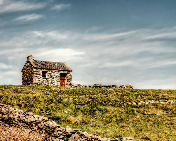 Aran Islands Poster featuring the photograph A Shack On The Aran Islands by Natasha Bishop