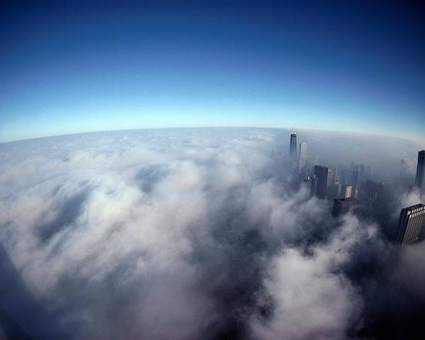 North America Poster featuring the photograph A Shadow Of The Sears Tower Slants by Steve Raymer