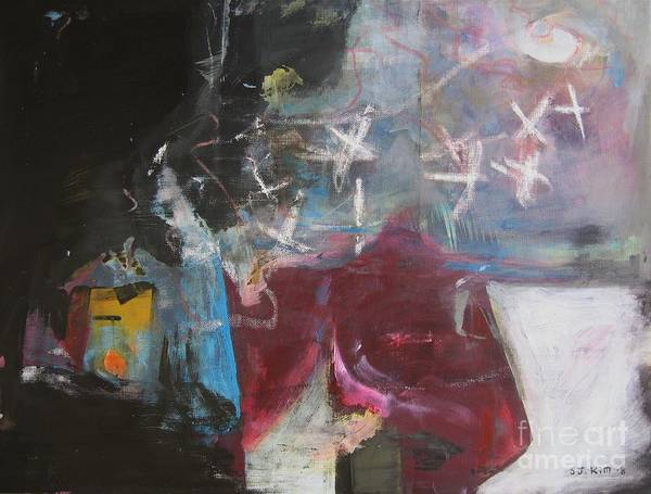 Abstract Paintings Poster featuring the painting A Short Story by Seon-Jeong Kim