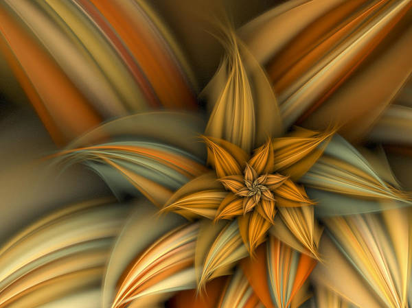 Fractal Poster featuring the digital art A Sign Of Summer by Amorina Ashton