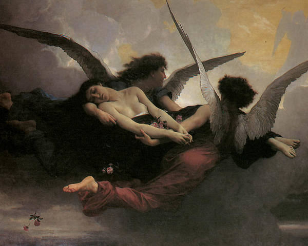 Adolphe William Bouguereau Poster featuring the painting A Soul Brought To Heaven by Adolphe William Bouguereau