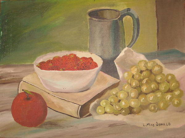 Still Life Poster featuring the painting A Still Life by L A Raven