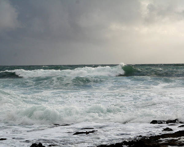 Ireland Poster featuring the photograph A Stormy Day In Doolin by Beverlee Singer