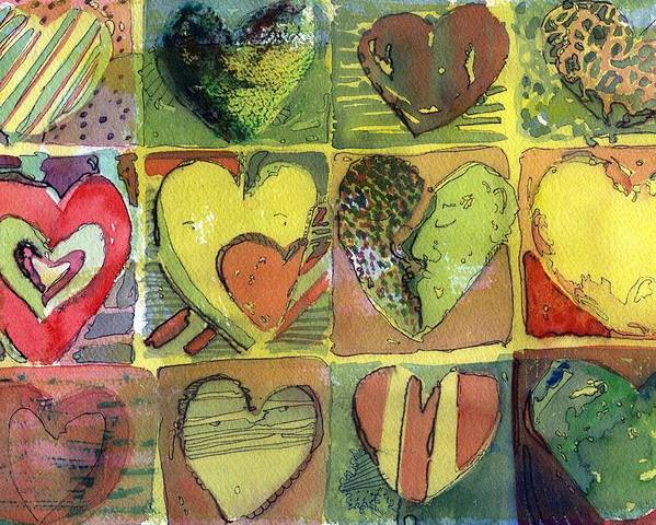 Valentine Poster featuring the painting A Sunny Valentine by Mindy Newman