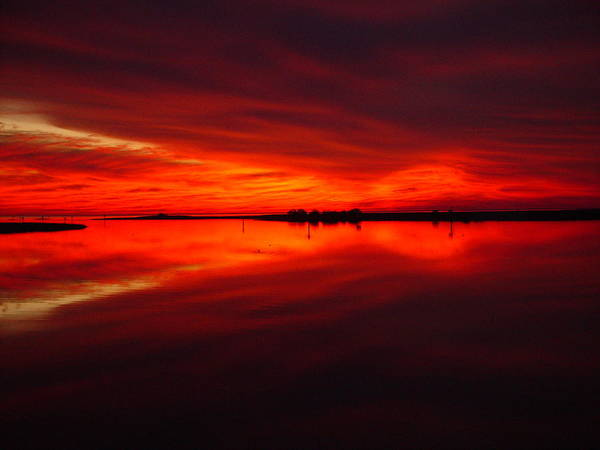 Sunset Poster featuring the photograph A Sunset Kiss -debbie-may by Debbie May