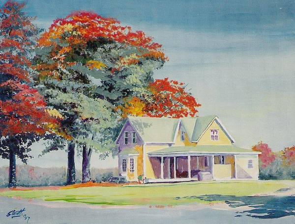 Landscape Poster featuring the painting A Touch Of Fall by Barry Smith