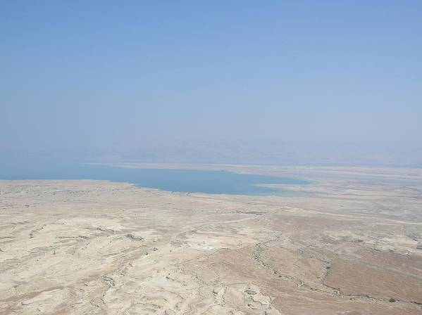 Israel Poster featuring the photograph A View Of The Dead Sea From Masada by Susan Heller