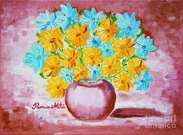 Daisies Poster featuring the painting A Whole Bunch Of Daisies by Ramona Matei