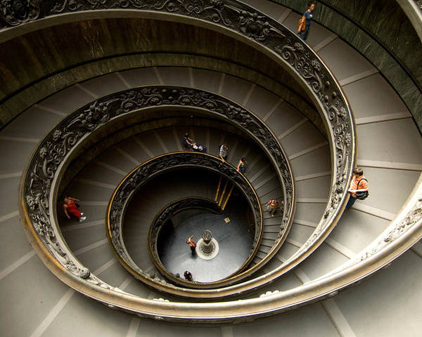Photography Poster Featuring The Photograph A Winding Staircase In The  Vatican By Joel Sartore