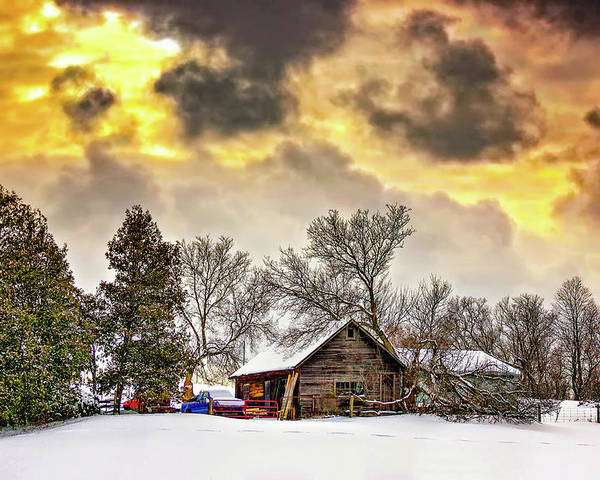 Winter Poster featuring the photograph A Winter Sky by Steve Harrington