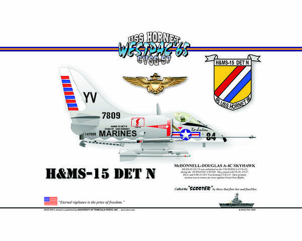 Naval Aviation Poster featuring the digital art A4-c Skyhawk Vsf by Mike Ray