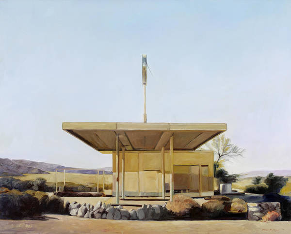 Gas Poster featuring the painting Abandoned 4 by Steve Metzger
