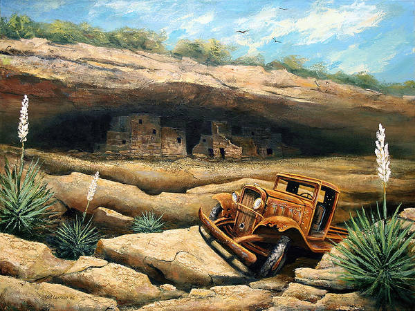 Landscape Poster featuring the painting Abandoned by Brooke Lyman
