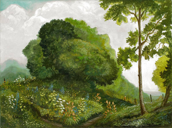 Landscape Painting Poster featuring the painting Abandoned Garden by Michael Scherer