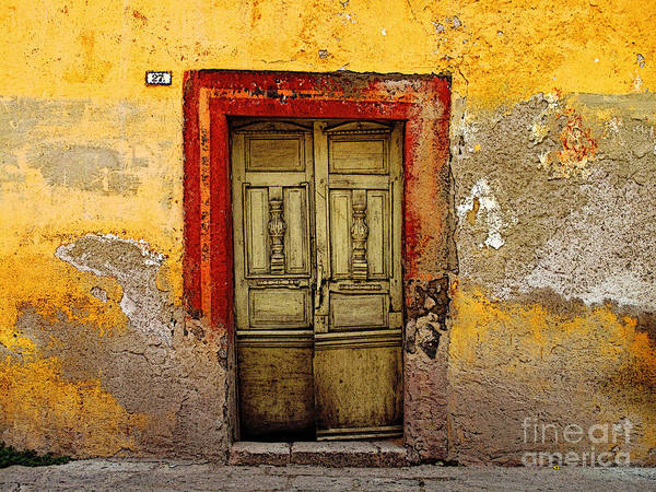Darian Day Poster featuring the photograph Abandoned Green Door 2 by Mexicolors Art Photography