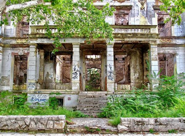 Street Photography Poster featuring the photograph Abandoned In Mostar by Aaris K