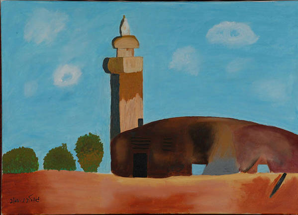 Religious Poster featuring the painting Abandoned Mosque by Harris Gulko