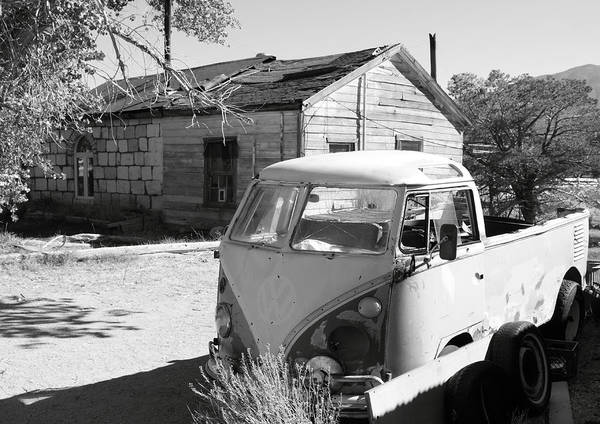 Mono County Poster featuring the photograph Abandoned Volkswagen Van by Troy Montemayor