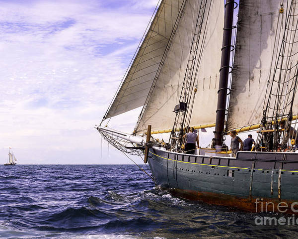 Amistad Poster featuring the photograph Aboard The Adventurer by Joe Geraci
