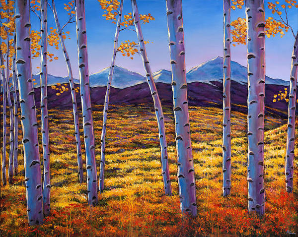 Autumn Aspen Poster featuring the painting Above It All by Johnathan Harris