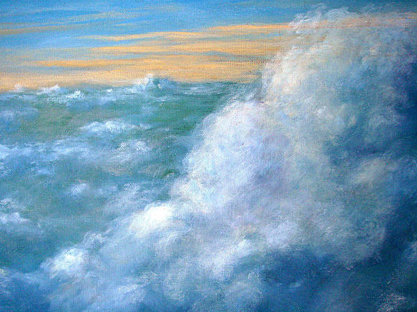 Landscape Poster featuring the painting Above The Clouds by Jeannette Ulrich