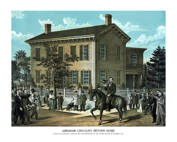 Abraham Lincoln Poster featuring the painting Abraham Lincoln's Return Home by War Is Hell Store