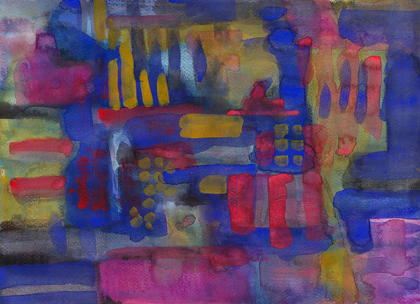 Abstract Poster featuring the painting Abstract 03 by Nelson Caramico