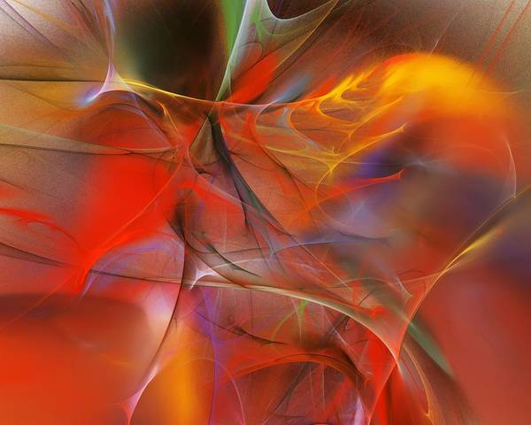 Abstract Poster featuring the digital art Abstract 062910a by David Lane
