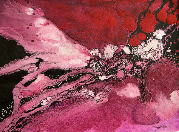 Abstract Poster featuring the painting Abstract 10 by Valerie Aune
