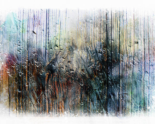 Abstract Poster featuring the painting 2f Abstract Expressionism Digital Painting by Ricardos Creations