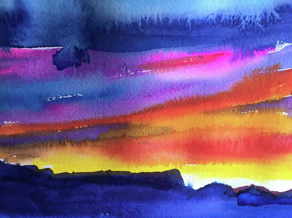 Abstract Poster featuring the painting Joan's Sunset by Bonny Butler