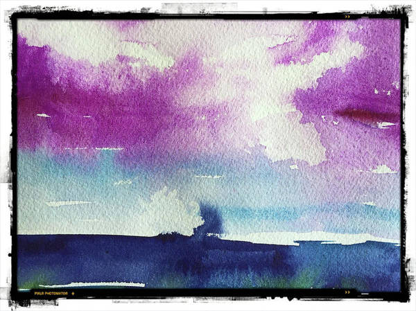 Abstract Poster featuring the painting Purple Sky's by Bonny Butler