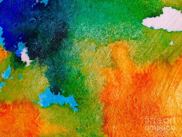Abstract Poster featuring the painting Abstract 6 by Cristina Stefan