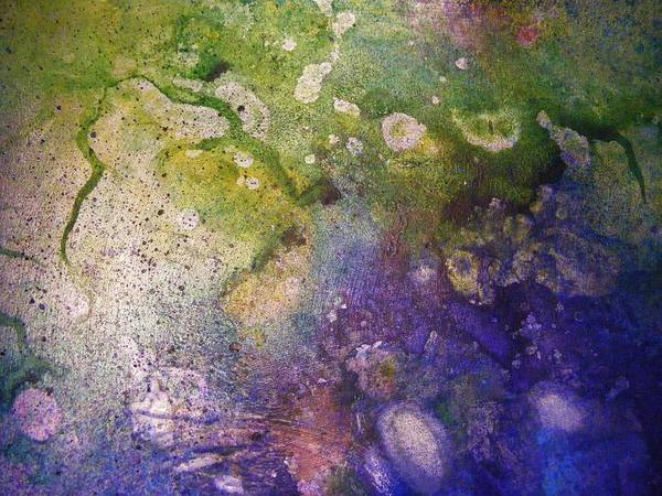 Metallic Poster featuring the painting Abstract Bubbles And Rivers by Darla J Bower Oder