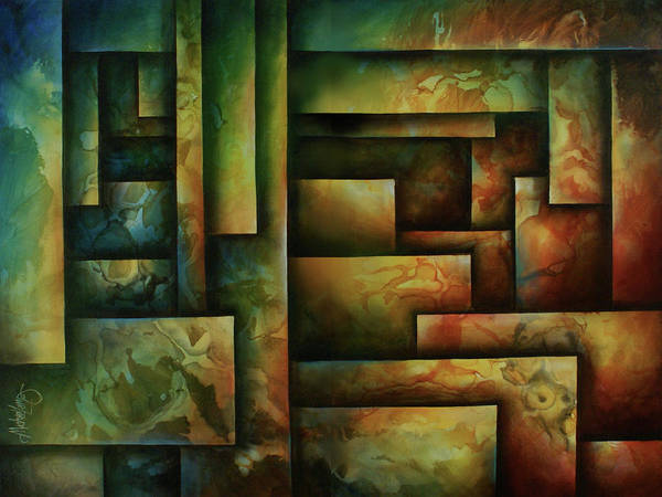 Abstract Art Poster featuring the painting Abstract Design 102 by Michael Lang