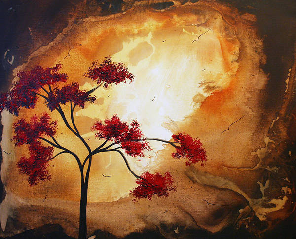 Abstract Poster featuring the painting Abstract Landscape Painting Empty Nest 12 By Madart by Megan Duncanson