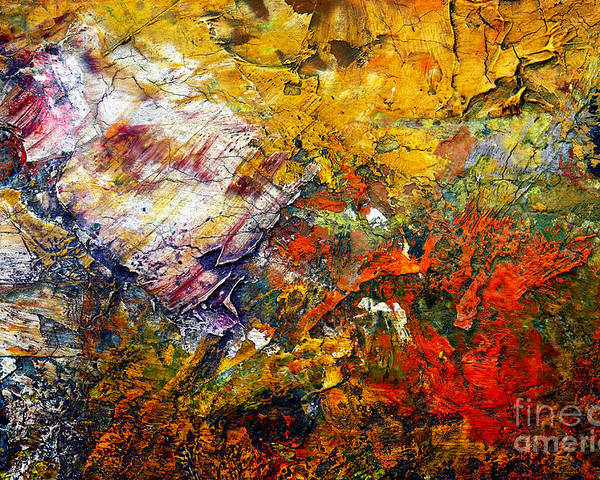 Abstract Poster featuring the painting Abstract by Michal Boubin