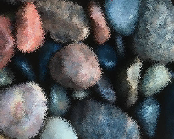 Rocks Poster featuring the photograph Abstract Of River Rocks 1 by Steve Ohlsen